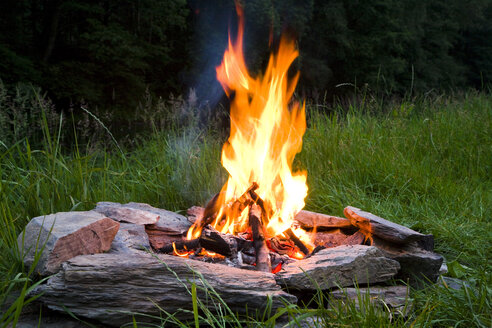 Campfire at twilight - GWF00832