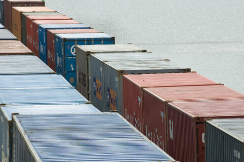 Germany, Stuttgart, Harbour, Cargo Container - AWDF00034
