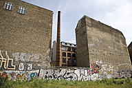 Germany, Berlin, Old factory site, Graffiti on wall - 09325CS-U