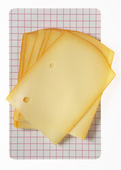 Gouda slices, elevated view - THF00949