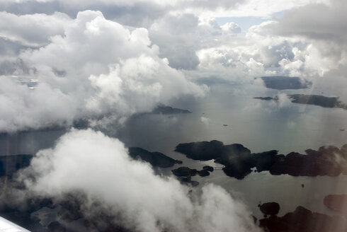 Norway, Clouds over coast area, aerial view - AWDF00252
