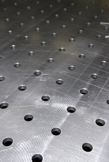 Perforated sheet in paneling, (full frame), close-up - AWDF00230