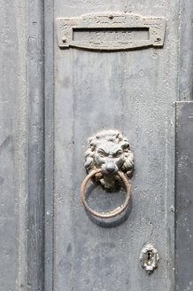 Italy, Venice, Lion shaped door knocker, close up - AWDF00212