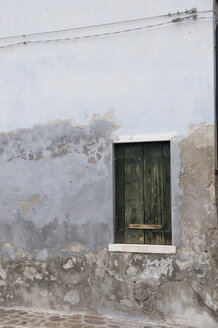 Italy, Venice, House wall, window with wooden shutters - AWDF00206