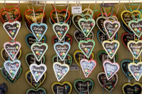 Germany, Stuttgart, Gingerbread hearts - AWDF00155