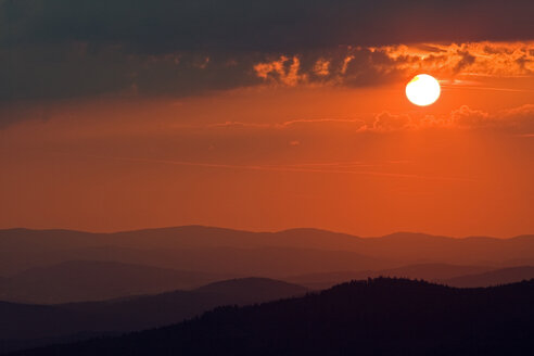 Germany, Bavarian Forest, Lusen at Sunset - FOF01187