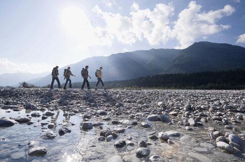 Germany, Bavaria, Tölzer Land, Group of hikers - WESTF09903