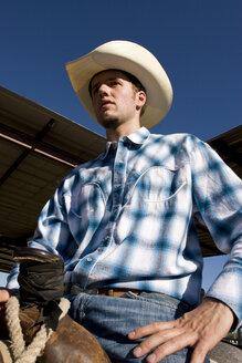 USA, Texas, Dallas, Cowboy, portrait, close-up - PK00248