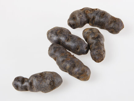 Truffle de Chine blue-violet potatoes, elevated view - KSWF00226