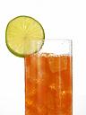 Glass of lemonade, close-up - AKF00120