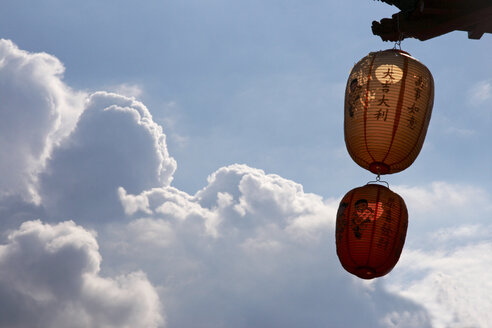 Chinese lanterns against cloudy sky - TLF00275