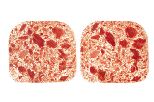 Slices of corned beef, elevated view - THF01018