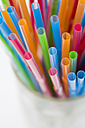 Multi coloured straws, elevated view - JRF00092