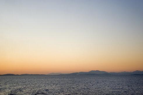 Greece, Ionian Sea, Ithaca, Sunset over the sea - MU00816