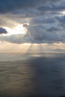 Greece, Ionian Sea, Ithaca, Thunder clouds over the sea - MU00810
