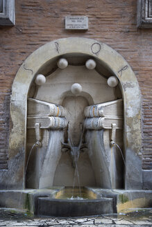 Italy, Rome, Fountain of books - PSF00090