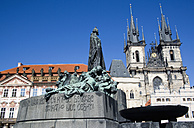 Czech Republic, Prague, Church of Our Lady before Tyn, Memorial in foreground - PSF00027