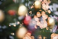 Christmas tree balls on christmas tree, blurred - MFF00394