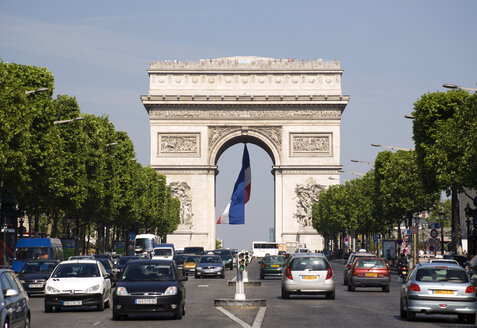 France, Paris, Arc de Triomphe, Champs Elysees - PSF00160