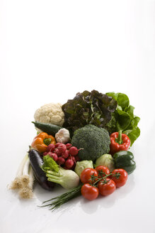 Variety of vegetables, elevated view - WDF00505