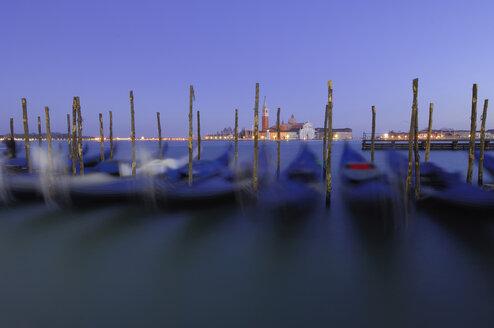 Italy, Venice, San Giorgio Maggiore, Gondolas - RUEF00242