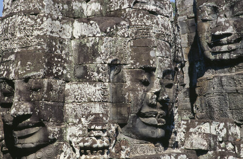Cambodia, Siem Reap, Bayon Temple, Relief carvings - PSF00307