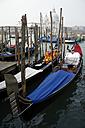 Italy, Venice, Gondola, Santa Maria della Salute in background - PSF00343
