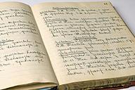 Old-fashioned Cookbook, close-up - AWDF00395