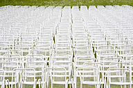 Germany, Empty chairs in a row - WDF00565