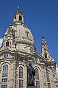 Germany, Dresden, Germany, Dresden,Frauenkirche and statue of Martin Luther - WDF00550