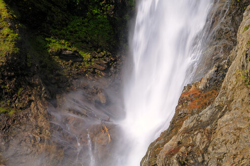 Italy, South Tyrol, Partschirns, Waterfall - SMF00502
