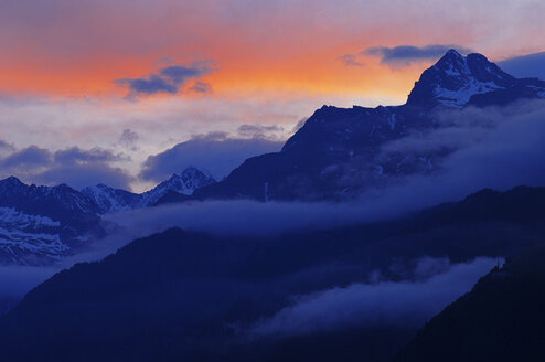 Italy, South Tyrol, Sunset - SMF00499