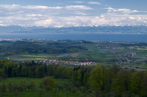Germany, Baden-Württemberg, View of landscape over Lake Constance - SMF00469