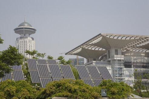 China, Shanghai, Puxi, Volkspark, Solar collectors - GW01017