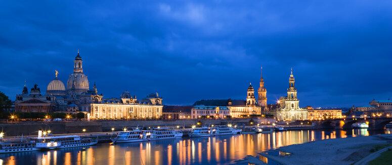 Germany, Saxony, Dresden skyline at night - PSF00375
