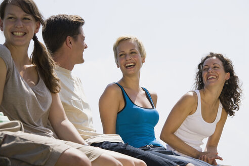 Germany, Bavaria, Young people laughing, portrait - LDF00771