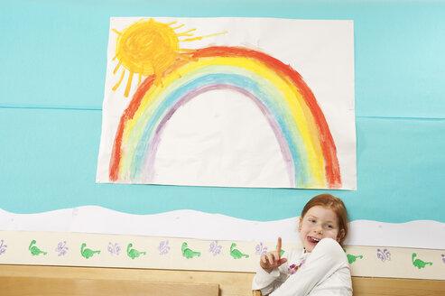 Germany, Portrait of a girl (5-6) in nursery - RNF00137