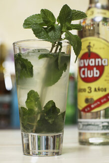 Mojito cocktail with mint, close-up. - CHK00984