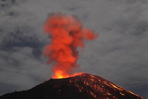 Indonesia, Sumatra, Krakatoa volcano erupting - RMF00404