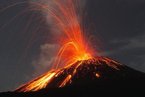 Indonesia, Sumatra, Krakatoa volcano erupting - RMF00398