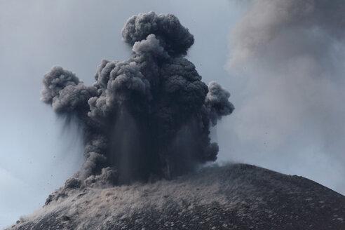 Indonesia, Sumatra, Krakatoa volcano erupting - RMF00395