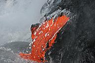 USA, Hawaii, Big Island, Lava entering sea - RMF00386
