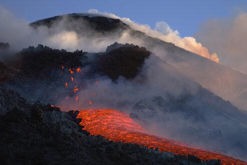 Italy, Sicily, Lava flow from Etna volcano - RMF00353