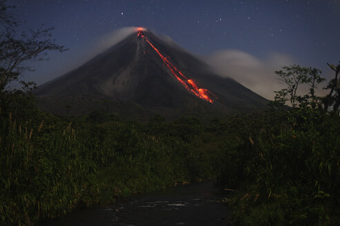 Costa Rica, Lava flow from arenal volcano eruption - RM00447
