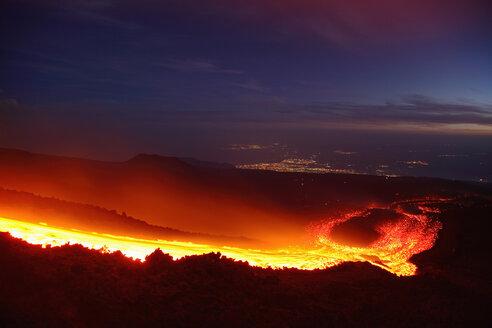 Italy, Sicily, Lava flow from etna volcano - RM00444