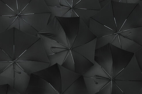 Open black umbrellas, close up - ASF04100