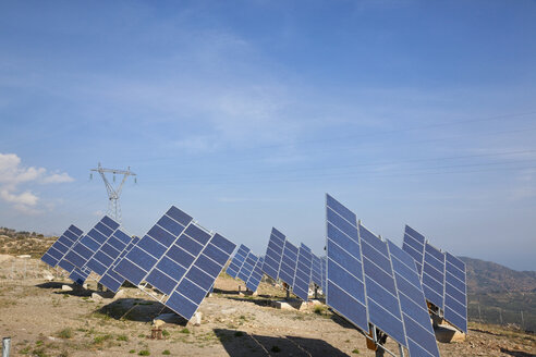 Greece, Crete, View of solar panels - MSF02387