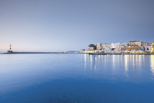 Greece, Crete, Chania, View of city at dusk - MSF02345