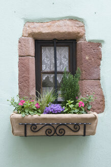 France, Alsace, View of old window - AWDF00550