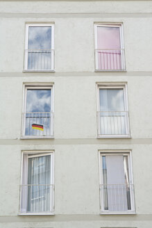 Germany, Munich, windows of residential building - LFF000224
